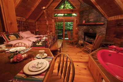 Hide Away In Our Private Mountain In Your Secluded Fireplace Cabin.  Honeymoon Cabins Are Our Specialty! Close To The Great Smoky Mountains  National Park.
